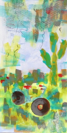 """Biking Arizona"" 15"" x 30"" $337"