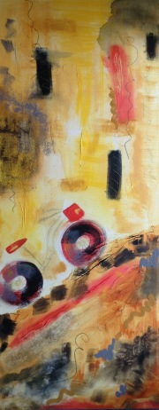 """""""Heart Attack Hill"""" 16"""" x 40"""" SOLD"""